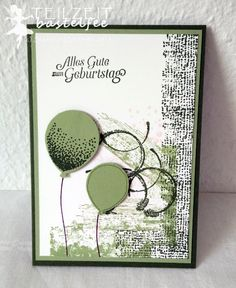 Stampin' Up! - In{k}spire_me #242, birthday, Geburtstag, Männerkarte, male card, Timeless Textures, SAB Hoch hinaus, SAB Sky is the limit, color challenge, Balloon Celebration, Partyballons