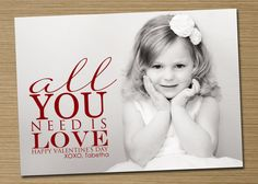 Custom Photo Valentine's Card PRINTABLE All You by CardsEtcetera, $15.00