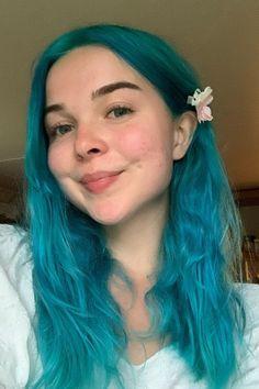 Mermaid off duty 😜🧜♀️ @treekiddo in Aquamarine 💫 #AFaquamarine Dyed Hair Blue, Hair Color Blue, Mermaid Off Duty, Arctic Fox Hair Color, Bright Hair, Deep Teal, Dark Shades, Aqua Marine, Aquamarine Blue