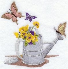 Machine Embroidery Designs at Embroidery Library! - Watering Cans