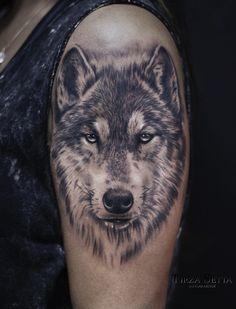 No photo description available. Tribal Wolf Tattoo, Tribal Tattoos, Wolf Tattoo Design, Tattoos Skull, Leg Tattoos, Black Tattoos, Body Art Tattoos, Wolf Sleeve, Wolf Tattoo Sleeve