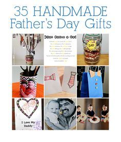 35 Kid-Friendly Handmade Fathers Day Gifts 1) DIY Father's Day Airplane Garland Message – Studio DIY 2)Father's Day Tree – Notable Nest for See Vanessa Craft