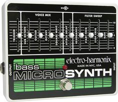 Buy your Electro-Harmonix Bass Micro Synthesizer Analog Microsynth Bass Effects Pedal from Sam Ash and receive the guaranteed lowest price. Bass Pedals, Guitar Pedals, Moog Synthesizer, Analog Synth, Digital Piano Keyboard, Used Guitars, Bass Guitars, Drum Machine, Guitars