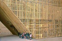 Pabellón temporal de bambú en un antiguo aeropuerto de Taichung|Espacios en madera