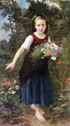 Charles Victor Thirion (french, 1833 -1878) - Fleur des champs