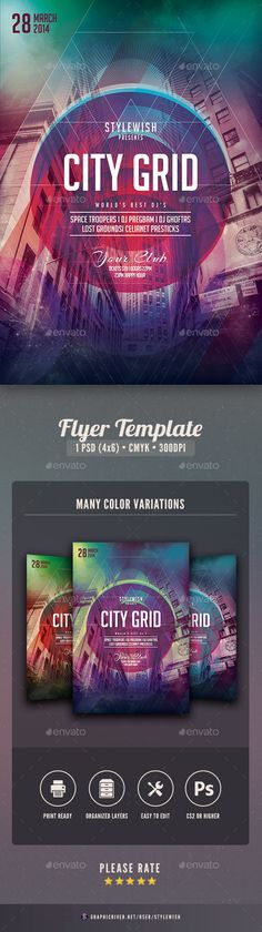 City Grid Flyer  -  PSD Template • Only available here! → https://graphicriver.net/item/city-grid-flyer/6703052?ref=pxcr