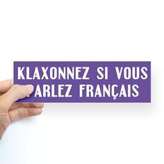 Honk if you speak French