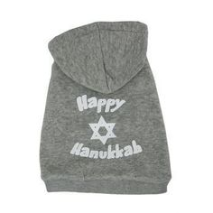 Now available in store Happy Hanukkah Do...! You can check it out here http://www.furbabeez.com/products/happy-hanukkah-dog-hoodie-gray?utm_campaign=social_autopilot&utm_source=pin&utm_medium=pin