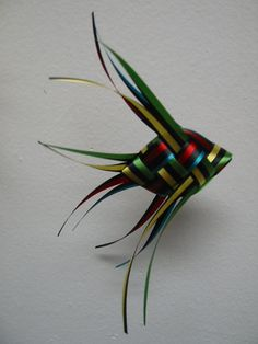 Ribbon Fish Mobile   black striped with by LenasFishMobilesEtc, $75.00