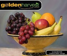 Keep a bowl of #fruit within easy reach on the kitchen counter or your desk at work so that you can grab a piece of fruit when you're hungry. #GoldenHarvest #TuesdayTip