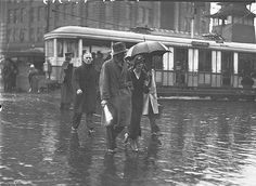 Heavy rain scenes in the City [Sydney], 1935 / by Sam Hood. State Library of New South Wales via Flickr.