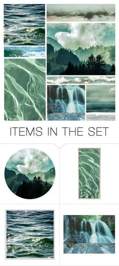 """Water and Sky"" by leegal57 ❤ liked on Polyvore featuring art"