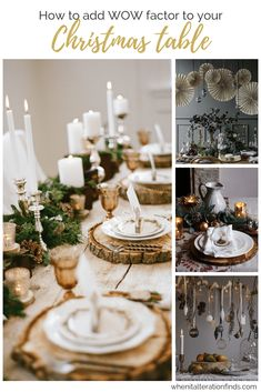 I'm not much of a cook, but I do love a chance to set the table! When it comes to tablescapes your Christmas table is the big one. The whole…Continue reading How to add wow factor to your Christmas table this year Decorating Ideas, Decor Ideas, Christmas Table Decorations, Wow Factor, Tablescapes, Christmas Crafts, Things To Come, Entertaining, Cool Stuff