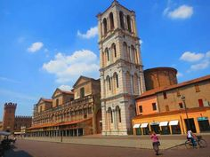 Piazza Trento e Trieste and cathedral bell tower #Ferrara #Italy #romagnadiffusa