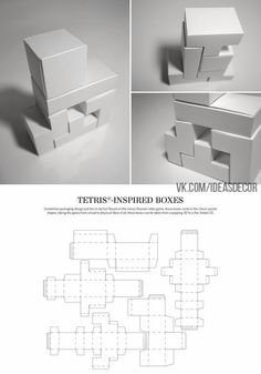 Tetris-Inspired Boxes – FREE resource for structural packaging design dielines Packaging Dielines, Tea Packaging, Packaging Design, Bottle Packaging, Modular Origami, Cardboard Packaging, Paper Folding, Box Design, Label Design