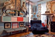 Cullen's 50s Collector's Heaven in Brooklyn - cabinets