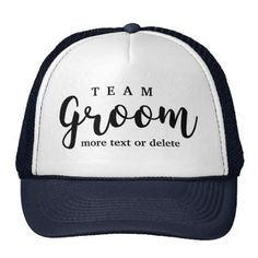 Team Groom Modern Wedding Favors for Groomsmen Trucker Hat Modern Wedding Favors, Wedding Tips, Personalized Bridal Party Gifts, Irish Hat, Team Groom, Custom Hats, Groomsman Gifts, Maid Of Honor, Make Me Happy