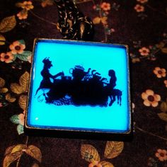 Alice In Wonderland Inspired Tea Party Glow In The Dark Pendant Necklace with Mad Hatter by GeekFreakBoutique, $19.50