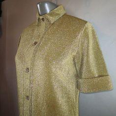 1970's Vintage RUDI GERNREICH Metallic Harmon Knitwear MOD