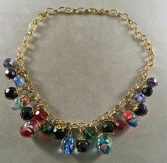 Vintage Murano Glass Beads Necklace