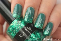 China Glaze's Exotic Encounters with CrowsToes Katnip-Great St Pattys day nail idea!