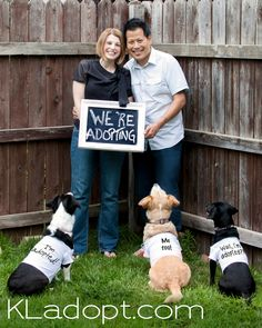 Really cute adoption announcement with the dogs! IN LOVE WITH THIS !!