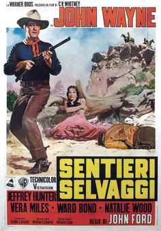 The Searchers (Italian) 11x17 Movie Poster (1956)