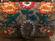 GUCCI DIONYSUS Supreme Embroidered Flower Shoulder Bag Pre-Owned
