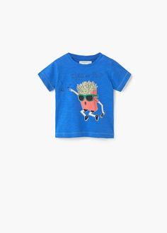 Printed cotton t-shirt -  Kids | MANGO Kids Finland