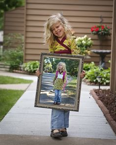 1st day of kindergarten picture ideas | cropped the photo from the first day of school and edited it into ...