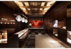 一期一會_日式禪風設計個案—100裝潢網 Curtain Designs, Restaurant, Curtains, Places, Table, Furniture, Home Decor, Showroom, Japanese