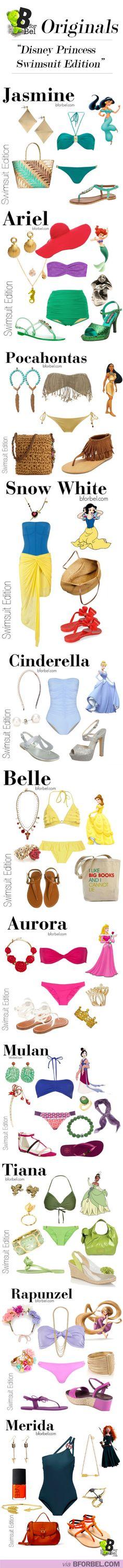 "BforBel Originals: ""Disney Princess Swimsuit Edition"" 13)I will never stop loving Disney princesses!"