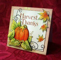 Harvest Pumpkin Corner by TeriDoodles - Cards and Paper Crafts at Splitcoaststampers