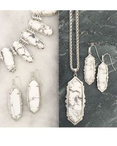 Frances Necklace in White Howlite - Kendra Scott Jewelry