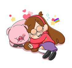 Dormir Mabel et Waddles Gravity Falls Anime, Gravity Falls Waddles, Dipper And Mabel, Mabel Pines, Monster Falls, Desenhos Gravity Falls, Iphone Wallpaper Vsco, Funny Pigs, Reverse Falls
