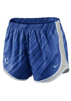 Kansas City (KC) Royals Nike Women's Royal Blue Dri-FIT Tempo Short http://www.rallyhouse.com/mlb/al/kansas-city-royals/a/womens?utm_source=pinterest&utm_medium=social&utm_campaign=Pinterest-KCRoyals $38.00