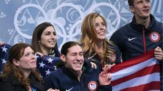 """Jason Brown, swapped into the team event for Jeremy Abbott, skated his viral """"Riverdance"""" free skate for Team USA."""