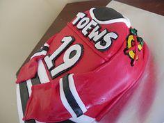 Cake Whimsy: Chicago Blackhawks Jersey Cake