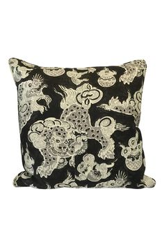 """Black and white printed pillow. Perfect addition to any room!    Measures 22 x 22"""".   Black & White Pillow by The Birch Tree Furniture. Home & Gifts - Home Decor - Pillows & Throws Ohio"""