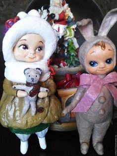 Коллекционные куклы ручной работы. Ватная елочная игрушка Лизонька. Elena Vlasyuk Антресолька. Ярмарка Мастеров. Ватные игрушки