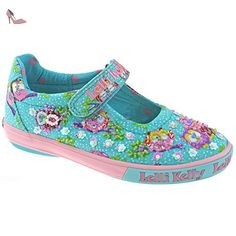 7e5629efa97a1 Lelli Kelly LK4058 (BO02) Turquoise Fantasy Owlie Dolly Shoes-25 (UK 7
