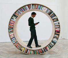 Circular Walking Bookshelf        Unique bookshelf designed by David Garcia for the Archive series
