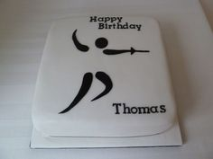 This fencing cake seemed to go down well - and it was cut with a sword. Pin Tool, Pretend Food, Themed Cupcakes, Novelty Cakes, Cakes For Boys, Happy Birthday, Birthday Cakes, Felt Crafts, Fencing