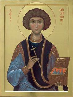 Great Martyr Panteleimon the Healer / History Class, Art History, Church Icon, Russian Icons, Byzantine Icons, Orthodox Christianity, Orthodox Icons, Saints, Religion