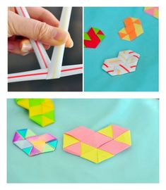 36a6f1a25a310b Make woven hearts out of straws or paper and use them to embellish cards, o