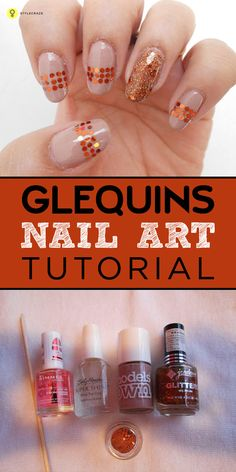 Glequins are very versatile and you can use them in any way you want and they add gorgeous bling to your nails. These can be used as great substitute for rhinestones.