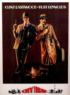 CITY HEAT: 1984, Warner Brothers, 4-page color and B&W promotional card on heavy slick card stock, NM, size 9 x 12 inches, $5