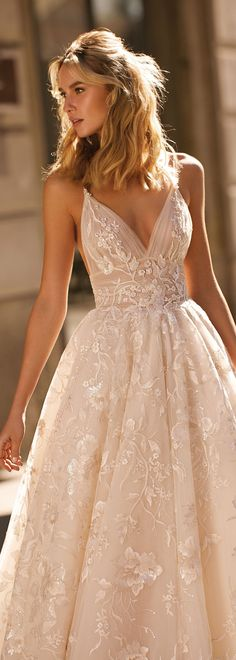 new Berta Milano bridal couture collection - wedding dresses. - new Berta Milano bridal couture collection – wedding dresses. Dream Wedding Dresses, Wedding Bridesmaid Dresses, Bridal Dresses, Wedding Gowns, Boho Wedding, Wedding Ideas, Boho Prom Dresses, Sexy Dresses, Blush Pink Wedding Dress