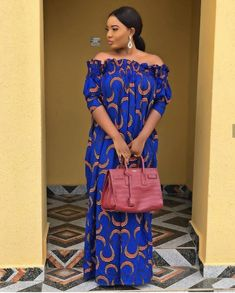 Ankara Long Gown Styles, African Dresses For Women, African Print Dresses, African Attire, African Women, Ankara Gowns, African Dress Styles, Ankara Styles For Women, African Fashion Ankara