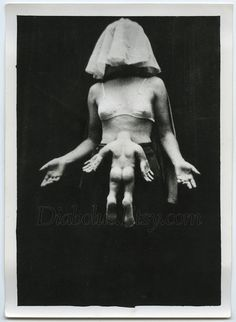 Surreal and Creepy Vintage Photo of Woman with by diabolus on Etsy, $195.00